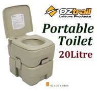 OZTRAIL PORTABLE (20 LITRE) SINGLE FLUSH CAMP CAMPING OUTDOOR TOILET