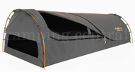 OZTRAIL MITCHELL (CHARCOAL GREY) KING SINGLE CANVAS DOME SWAG