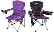 2 X OZtrail Modena Sport Folding Camping Picnic Arm Chairs