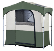 OZtrail Camping Gazebo with Ensuite Utility Shower, Toilet, Change Room