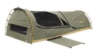 OZtrail Bouli King Single Canvas Swag $299 save $200 at Camping Central