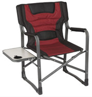 OZtrail Directors Jumbo Side Table Camping Arm Camp Chair Folding Picnic