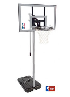 Spalding NBA silver portable Basketball Net
