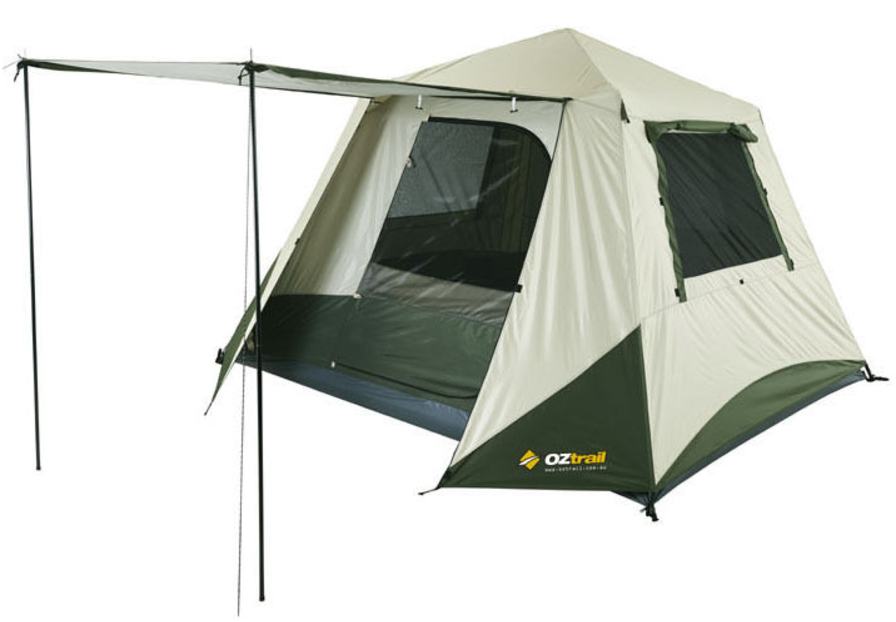 4 Person Instant Tent : Oztrail tourer swift pitch instant up p sets in