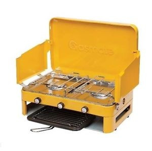 GASMATE LPG (2 BURNER) DOUBLE GRILL Gas Camping Camp Portable Stove