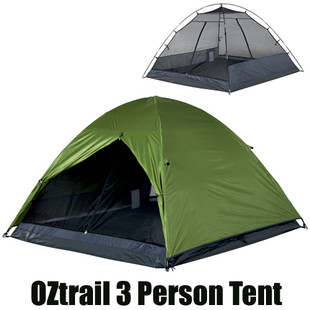 OZtrail Flinders 3 Person Tent  sc 1 st  C&ing Central & OZtrail Classic Dome Hiking 3 Man Person Tent available at a great ...