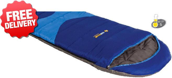 OZtrail Lawson Jumbo -5 Celcius Sleeping Bag - 230 x 90cm (Angle View)