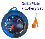 SEA TO SUMMIT DELTA PLATE + CUTLERY SET CAMPING PORTABLE LIGHTWEIGHT COMPACT