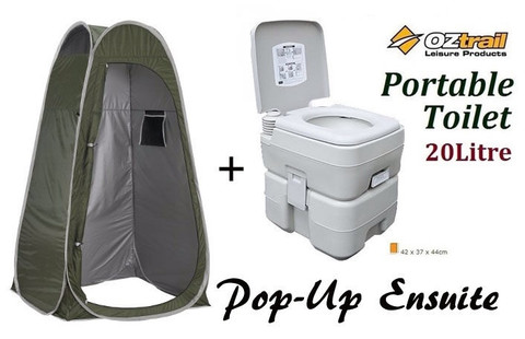 OZTRAIL PORTABLE (20 LITRE) CAMP CAMPING OUTDOOR TOILET POP UP PRIVACY ENSUITE  sc 1 st  C&ing Central & OZTRAIL PORTABLE (20 LITRE) CAMP CAMPING OUTDOOR TOILET POP UP ...