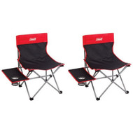 2  x COLEMAN EVENT CHAIR (WITH SIDE TABLE) CAMPING Portable Picnic