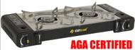AGA CERTIFIED - OZTRAIL TWIN BUTANE GAS COOKER