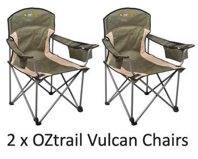 OZTRAIL VULCAN CHAIR (2 PACK)