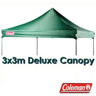 Green 3x3m Replacement Canopy for Deluxe Gazebo