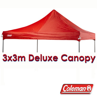 Red 3x3m Replacement Canopy for Deluxe Gazebo