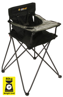 OZTRAIL HIGH CHAIR Stool Portable Camp Picnic Toddler Baby Eating Seat Food
