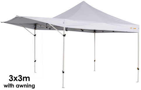 Oztrail 3m Gazebo with Awning  sc 1 st  C&ing Central & OZtrail Compact Gazebo Marquee Awning Market Stall 2.4 x 2.4m ...