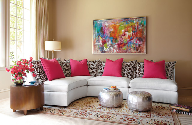 Living Room Poufs : Moroccan Poufs – Value-Addition To Your Living Room