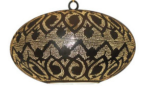 Moroccan Hanging Brass Lamp