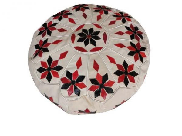 Floor leather Pouf