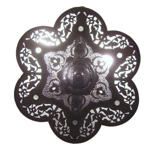 Moroccan Oxidize Flush Mount Ceiling Lamp Light Fixture