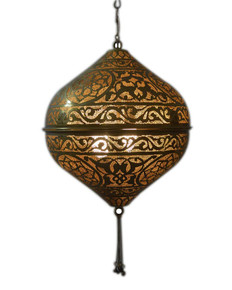 Hanging Brass Moroccan Style Lamps