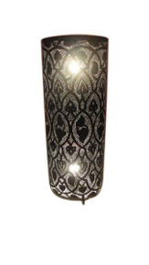 "28"" Black Oxidized Moroccan Floor Lamp"