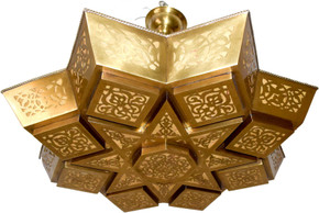 Moroccan brass cut out lighting chandelier