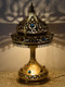 Traditional solid brass table lamp lights