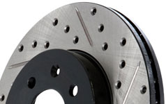 stoptech sport drilled slotted rotor