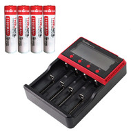 MCC-4S Universal Charger + 4*IMR 18650 Batteries (Only US Available)
