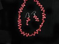 Pearls |  Red Keshi Freshwater Pearl Necklace | Navajo