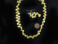 Yellow Keshi Freshwater Pearl Necklace