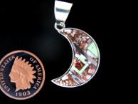 Half Moon Inlaid Pendant | Turquoise Inlaid