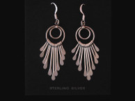 Sterling Silver Earrings with Multiple Dangles