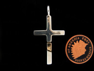 Cross by Ron Henry, Sterling Silver and 14kt Gold