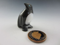 Penguin Fetish Carving from Black Marble by Zuni artist Calvert Bowanie available at Sacred Bear Jewelry.