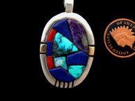 Mosaic Inlay Pendant by Ron Henry, All Natural Stones