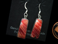 Orange Spiny Shell Dangle Earrings by Ron Henry