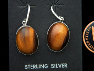 Tigereye Dangle Earrings by Ron Henry