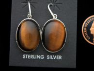 Natural Tigereye Dangle Earrings by Ron Henry