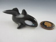 Orca fetish by Zuni fetish carver Calvert Bowannie