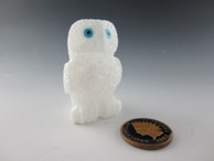 Owl fetish carved from Alabaster by Zuni artist Christine Banteah available at Sacred Bear Jewelry.