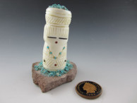 Corn Maiden fetish carved from Alabaster by Zuni artist Carl Etsate available from Sacred Bear Jewelry.