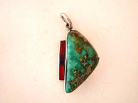Turquoise and Sterling Pendant, by Ron Henry