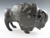 Buffalo fetish carving by Zuni artist Curtis Garcia.