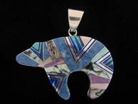 Bear Inlaid Pendant by Navajo artist Evangeline David