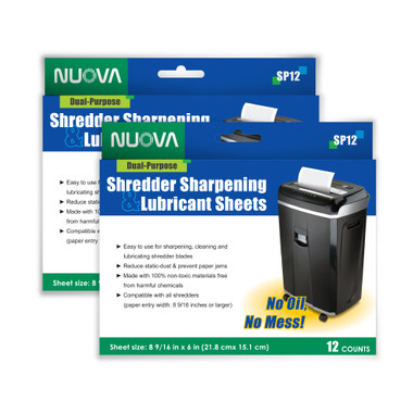 Nuova Shredder Sharpening & Lubricant Sheets ITBSP24_Sheets