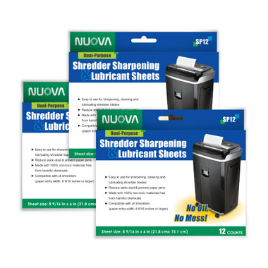 Nuova Shredder Sharpening & Lubricant Sheets ITBSP36_Sheets