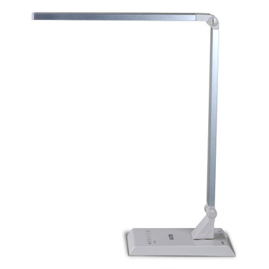 Nuova DL-200SW Modern Design White/Silver, Energy Efficient LED Desk Lamp 9W