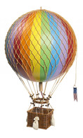 Authentic Models Royal Aero Hot-Air Balloon in Rainbow